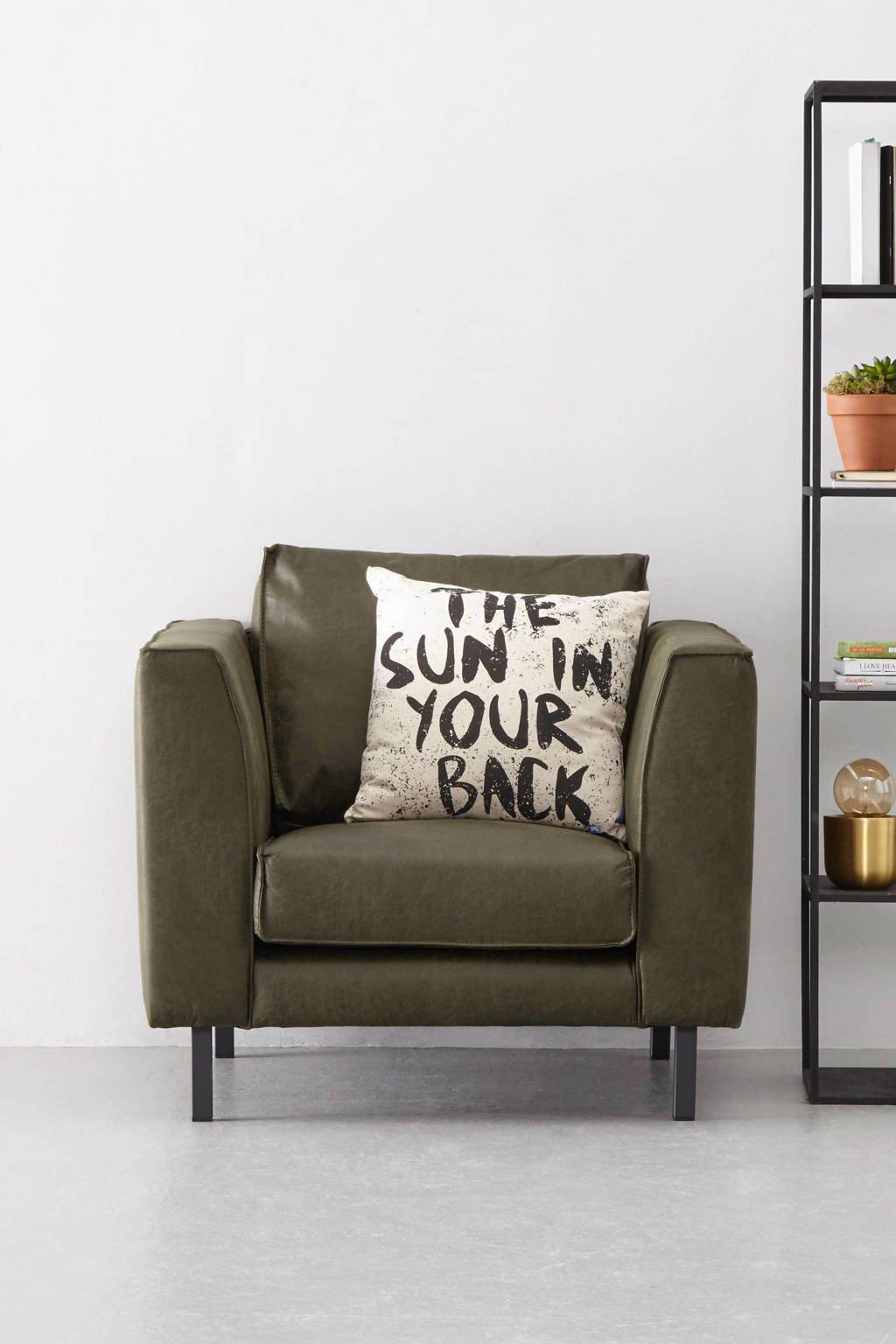whkmp's own eco-leren fauteuil Rio, Donkergroen