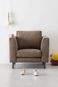 whkmp's own eco-leren fauteuil Rio, Taupe