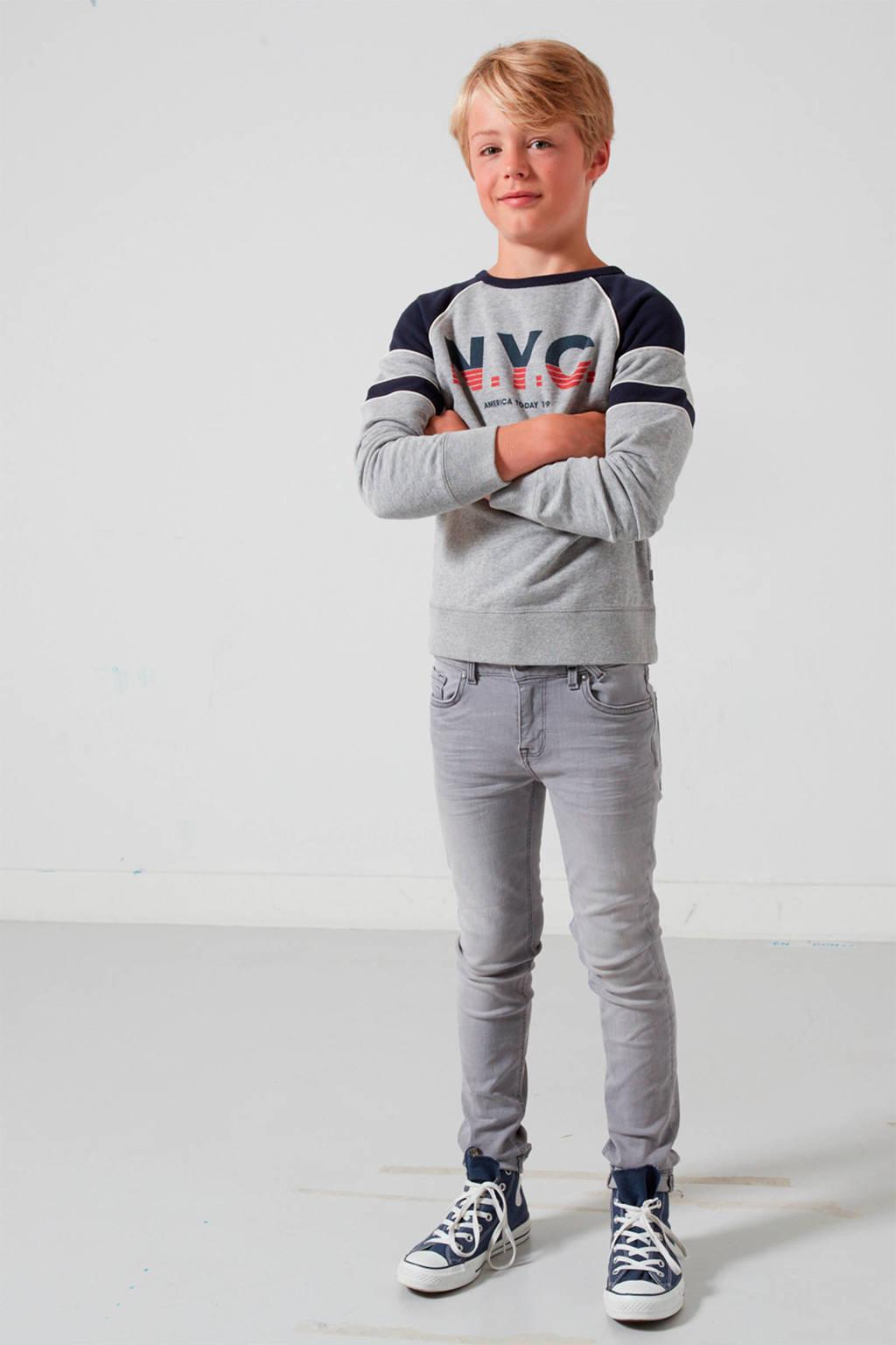 America Today Junior Keanu slim fit jeans, Grijs