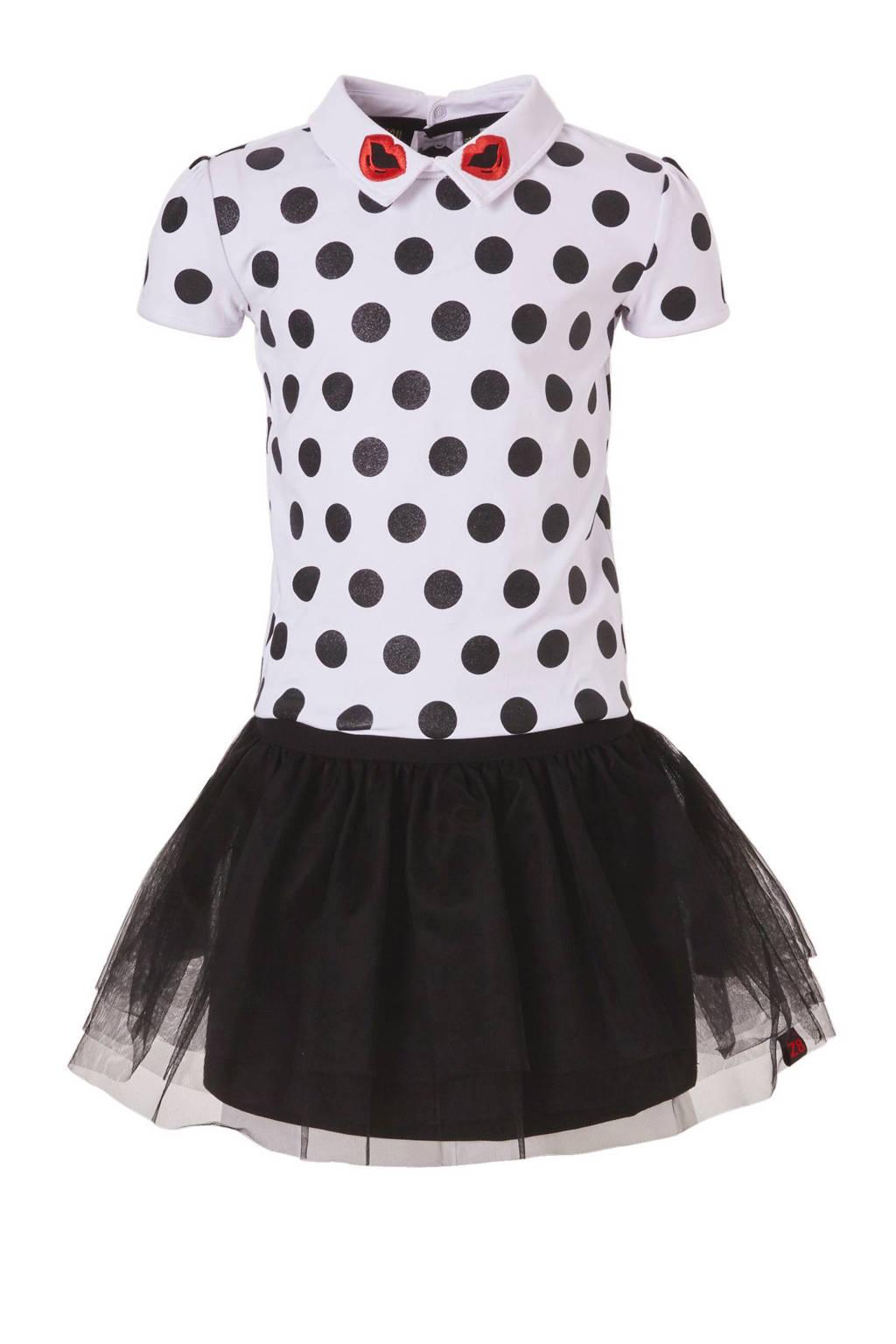 Z8 jurk Fileine, Wit / zwart / rood