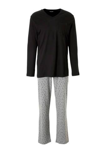 Men Bodywear pyjama met sterren blauw