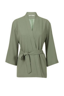 kimono met striksluiting groen