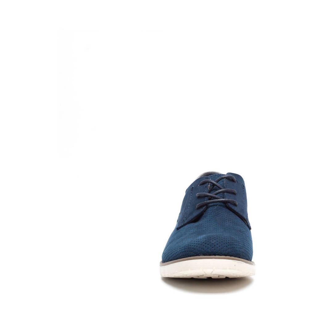 Scapino Blue Box veterschoenen, Donkerblauw/lichtblauw