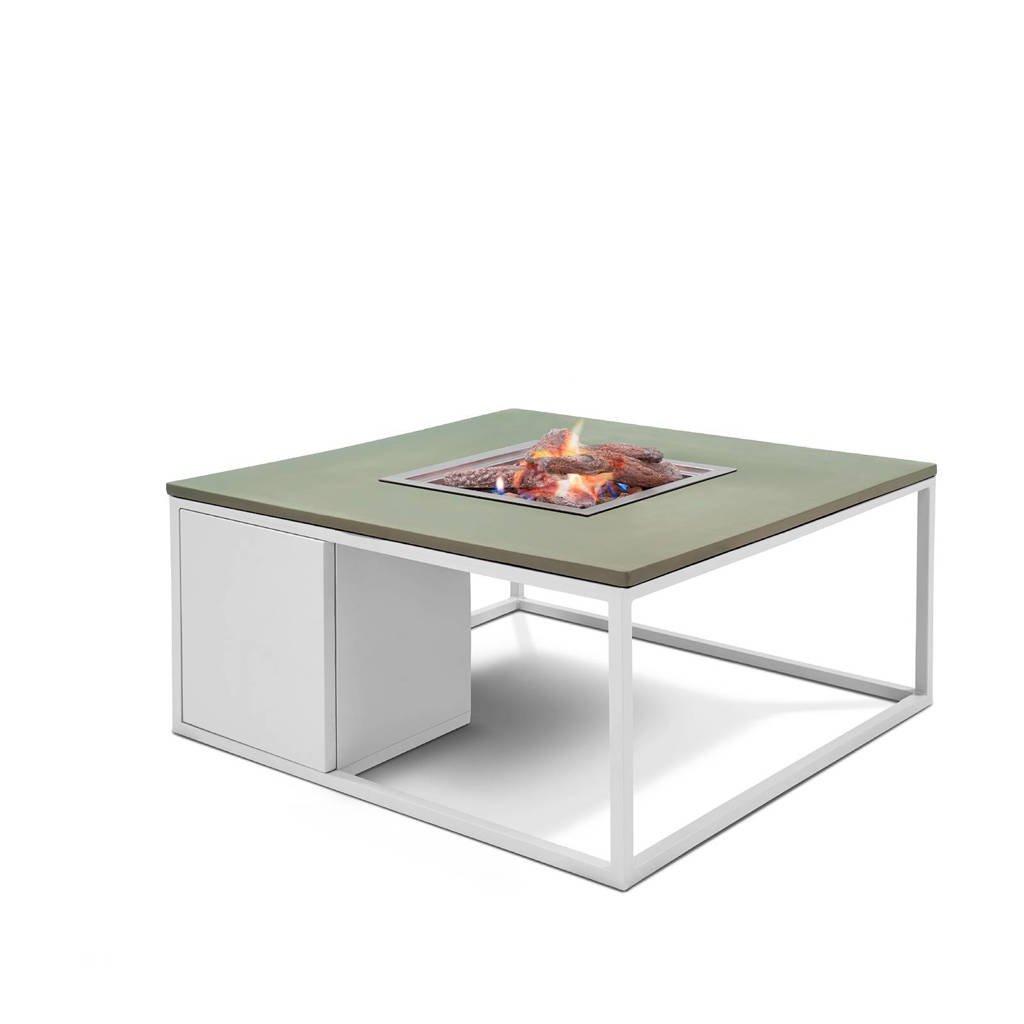 Cosi Fires vuurtafel Cosiloft (100x100 cm), Wit/groen