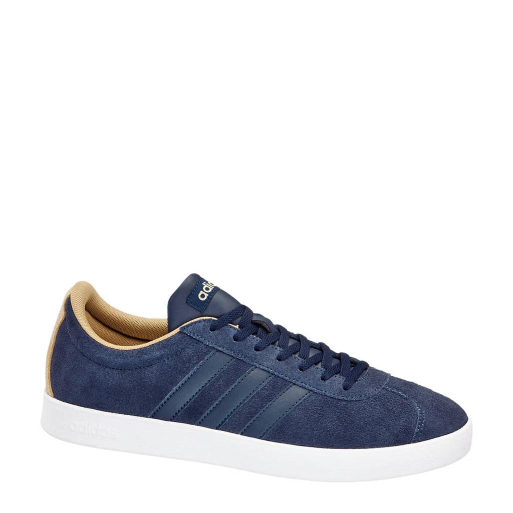 adidas  VL Court 2.0 suède sneakers, Donkerblauw/Beige