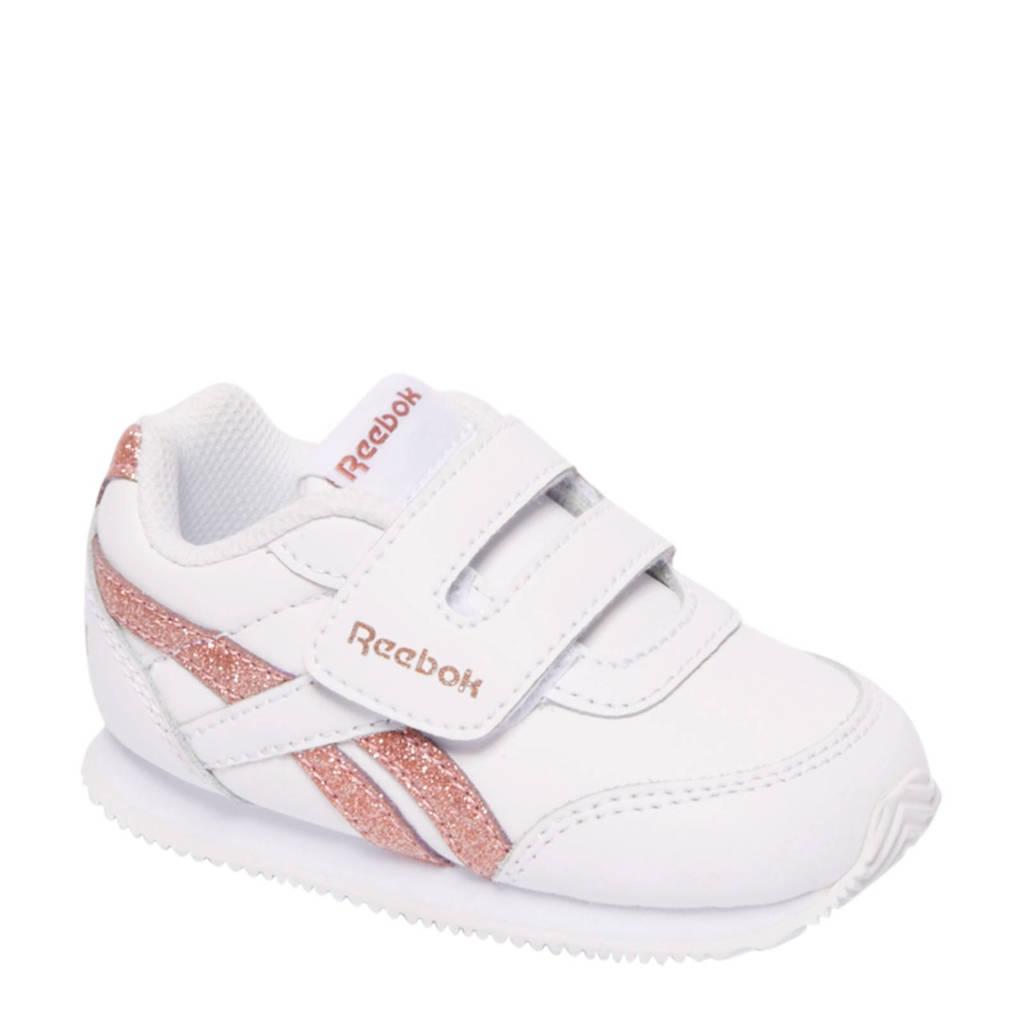 Reebok  Royal CL JOG 2 sneakers met glitters, Wit/roze