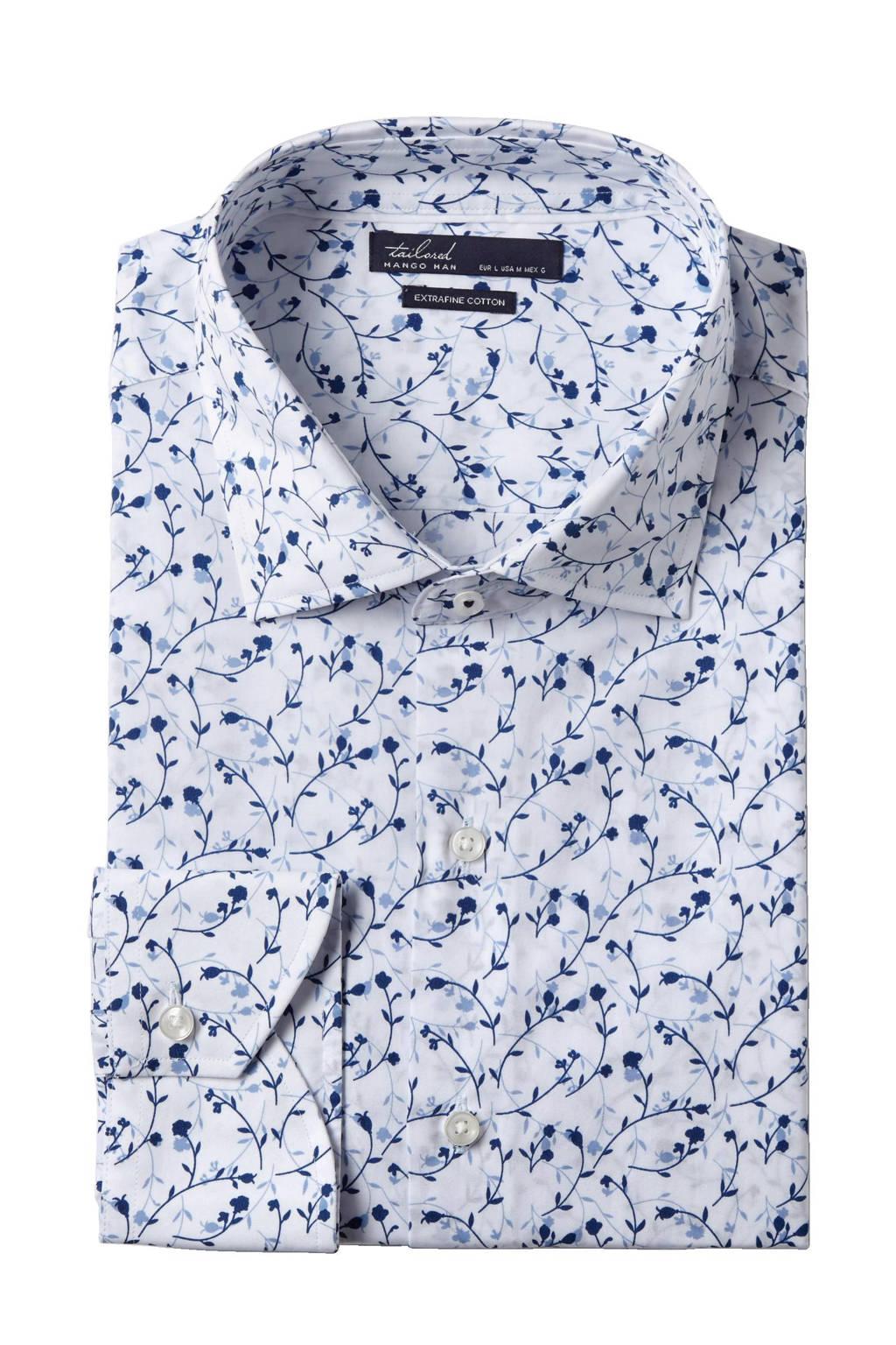 Bloemen Overhemd.Mango Man Slim Fit Overhemd Met Bloemen Wehkamp