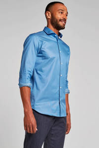 SELECTED HOMME slim fit overhemd blauw, Blauw