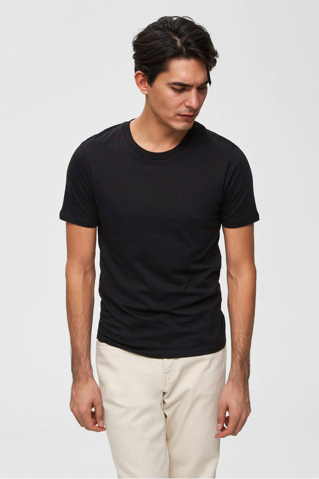 SELECTED HOMME T-shirt, Zwart