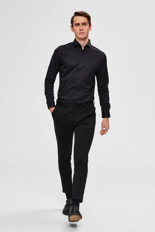 SELECTED HOMME slim fit overhemd, Zwart