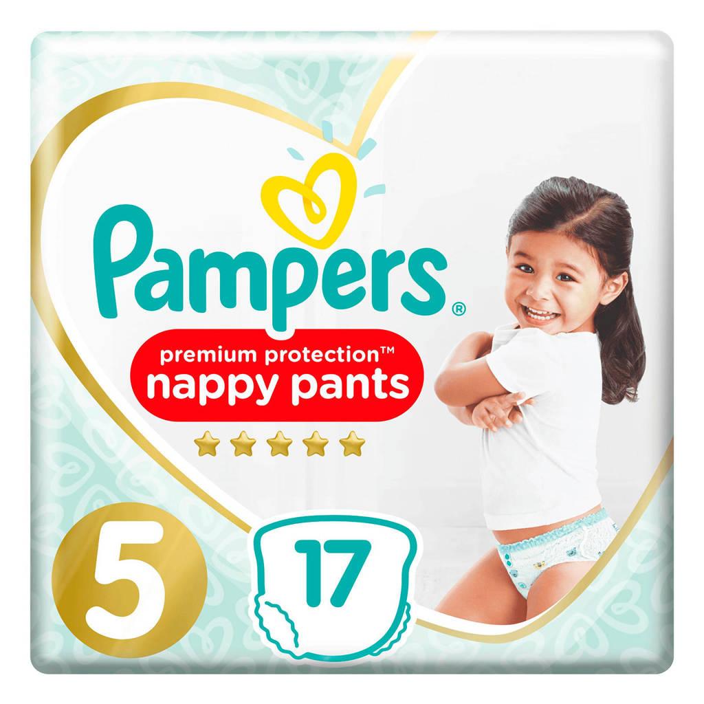 Pampers Premium Protection Pants maat 5 (12-17kg) 17 Luierbroekjes, 5 (12-18 kg)