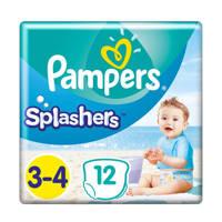 Pampers Splashers Maat 3-4 (6-11 kg) 12 wegwerpbare zwemluiers