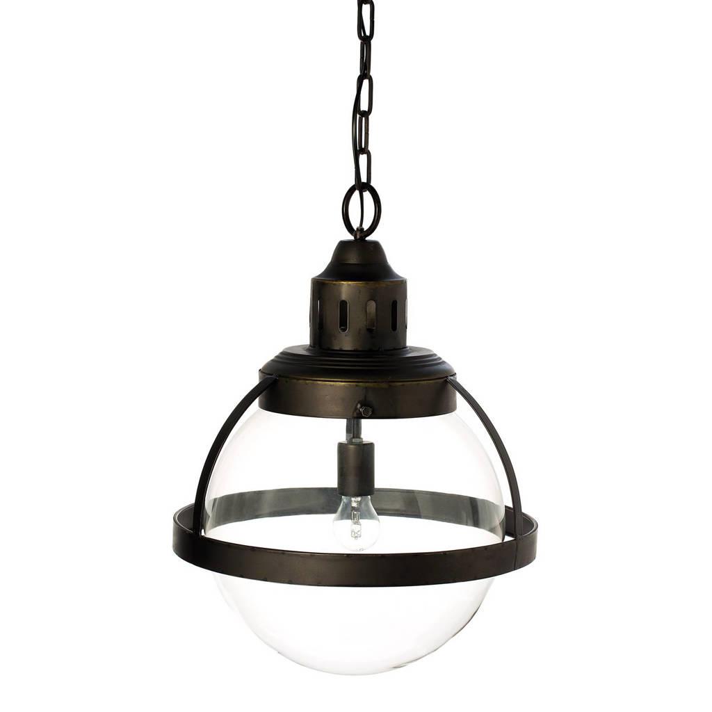 Riverdale hanglamp Boston, Helder zwart/donkergrijs