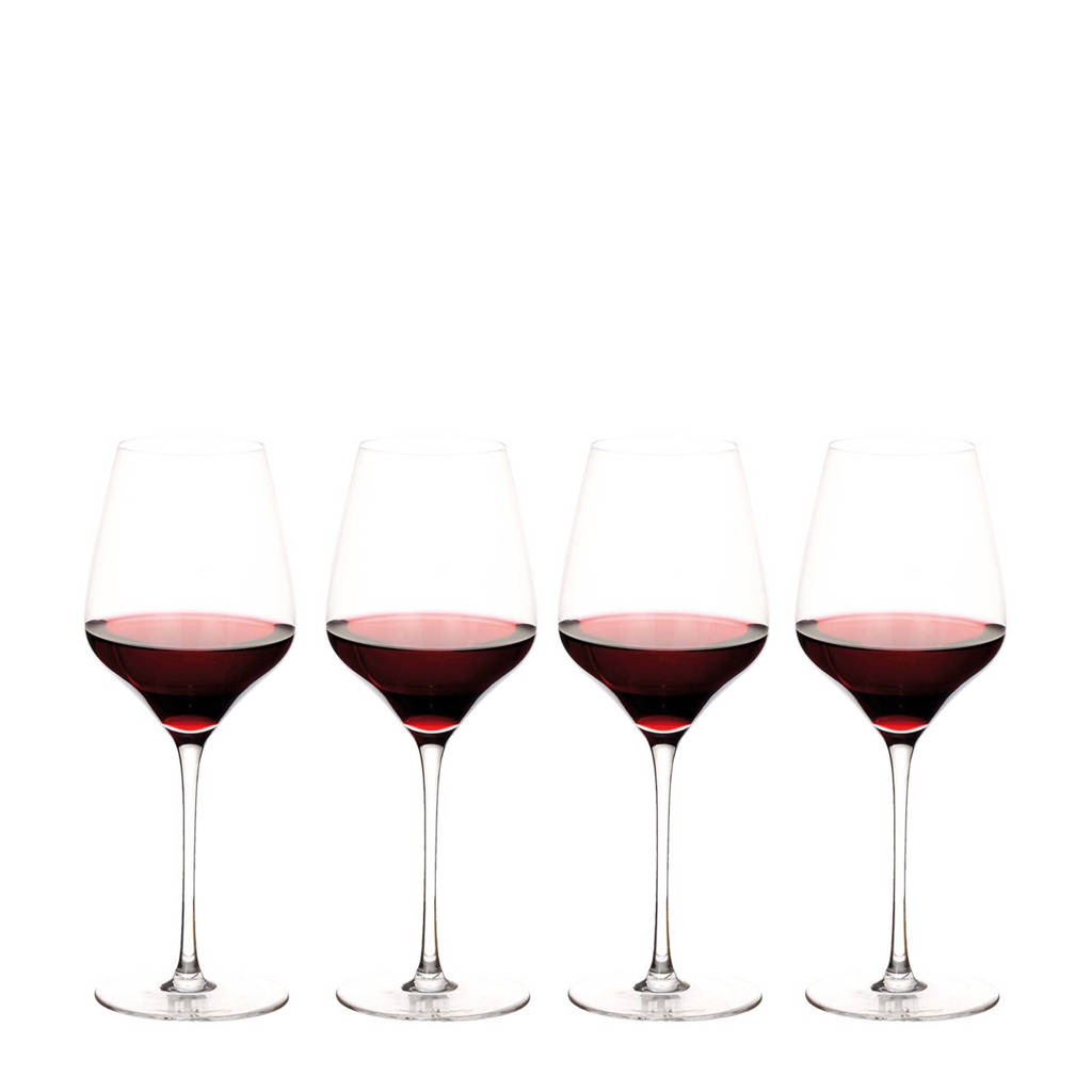 Riverdale Elegance rode wijnglas (Ø9,5 cm) (set van 4), Transparant