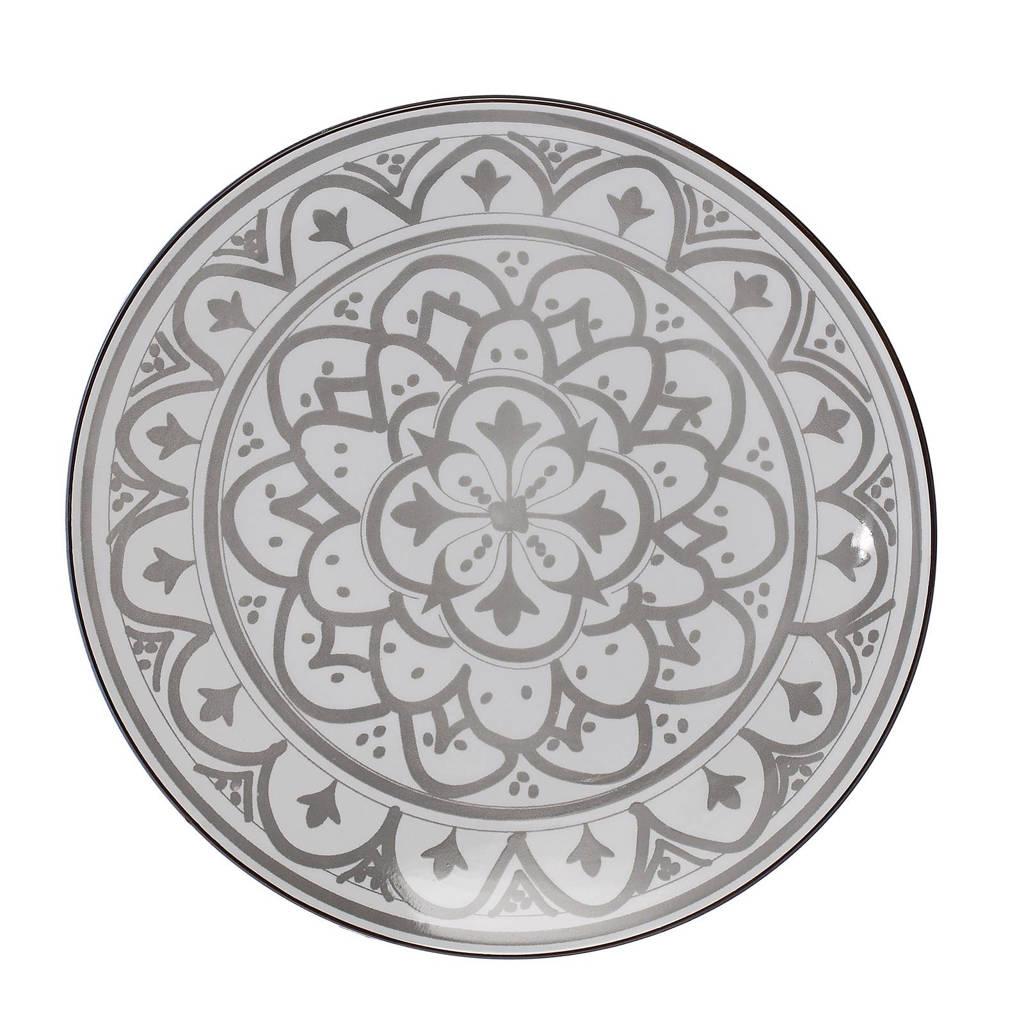 Riverdale Bloom dinerbord (Ø27 cm), Grijs/wit