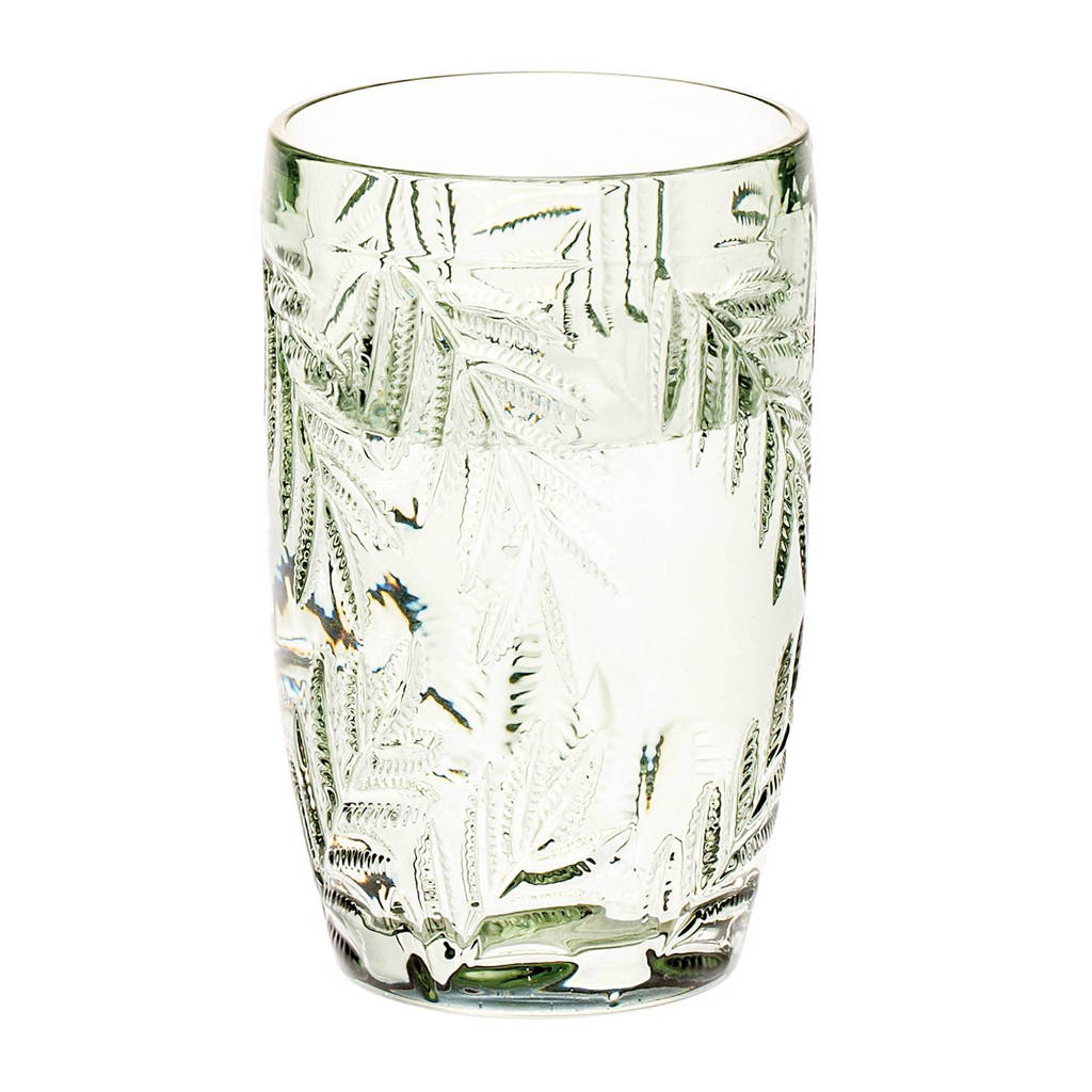 Riverdale Palm waterglas (Ø8 cm), Groen