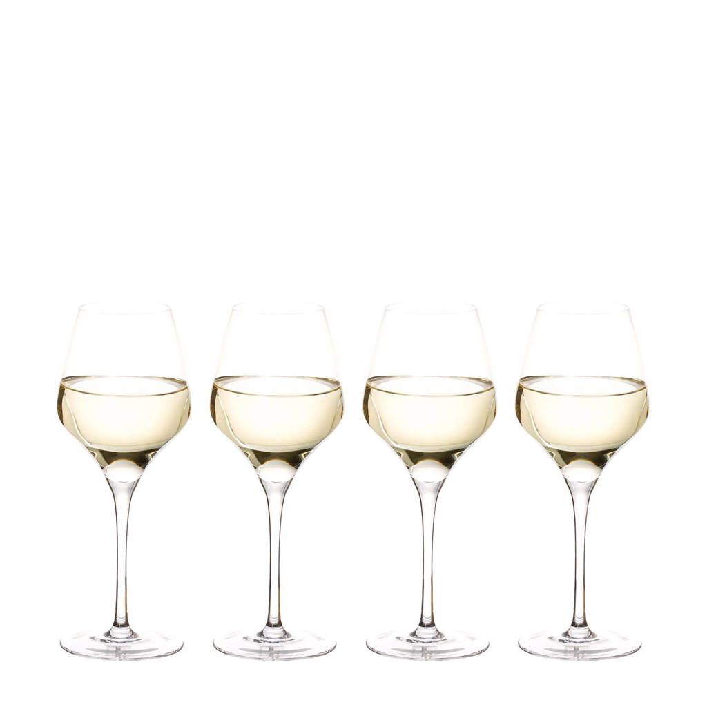 Riverdale Elegance witte wijnglas (Ø9 cm) (set van 4), Transparant