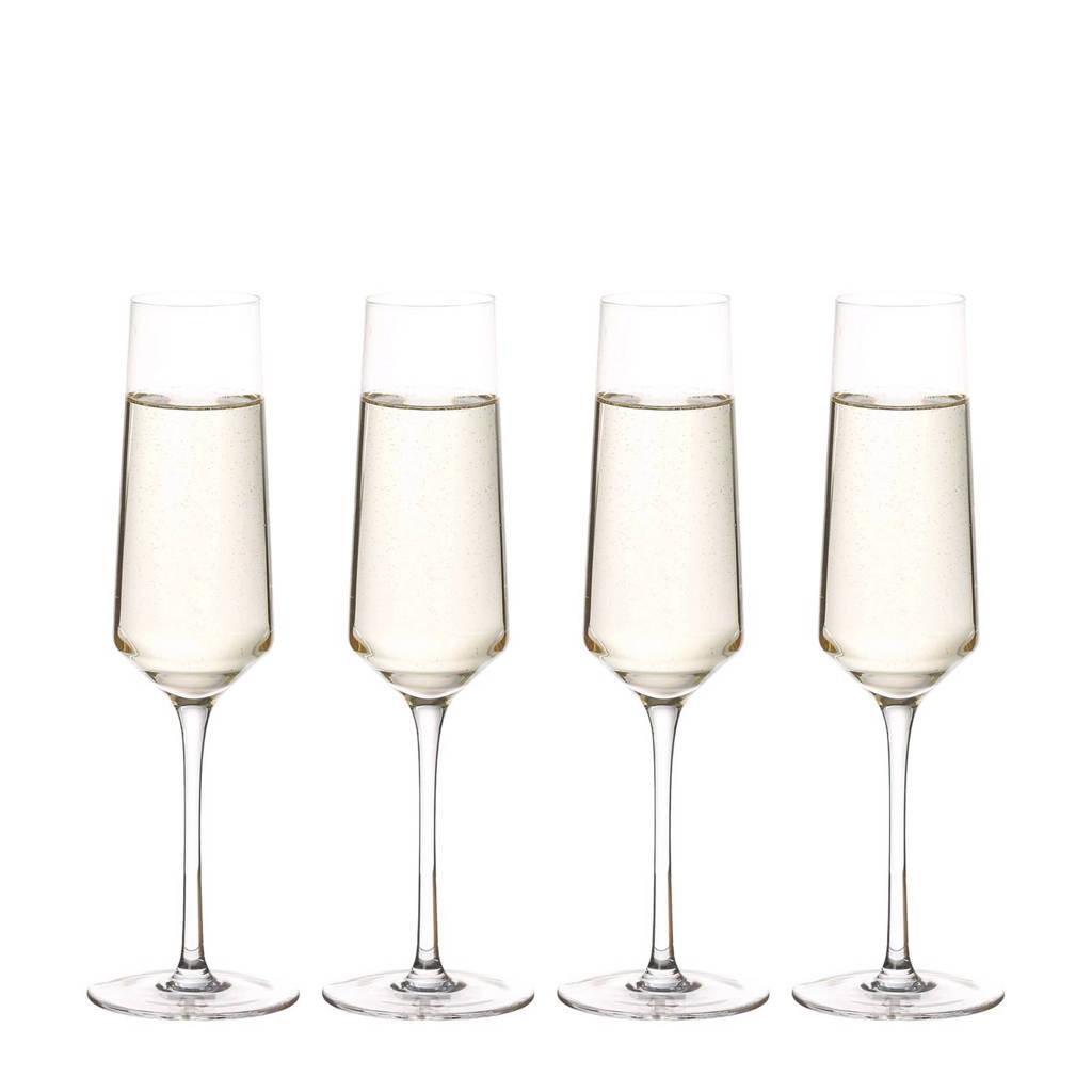 Riverdale Elegance champagneglas (Ø7 cm) (set van 4), Transparant