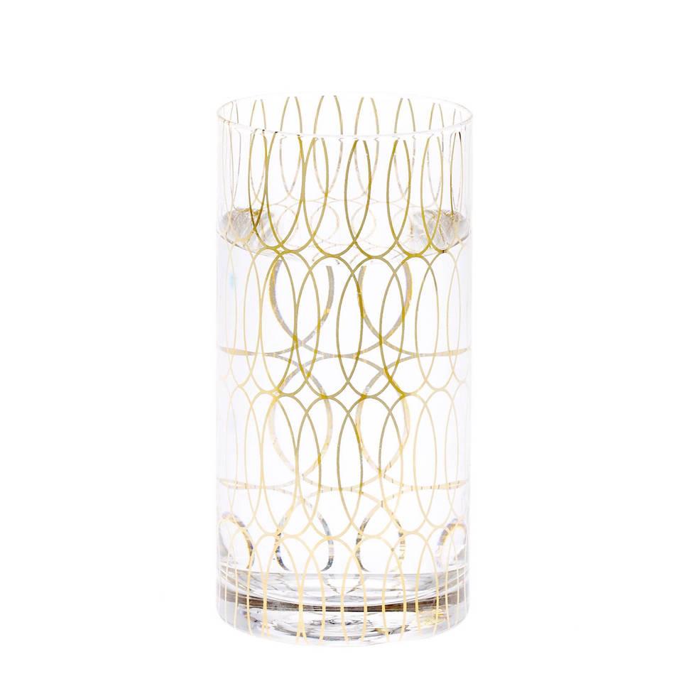 Riverdale longdrinkglas (Ø7,5 cm), transparant/goud