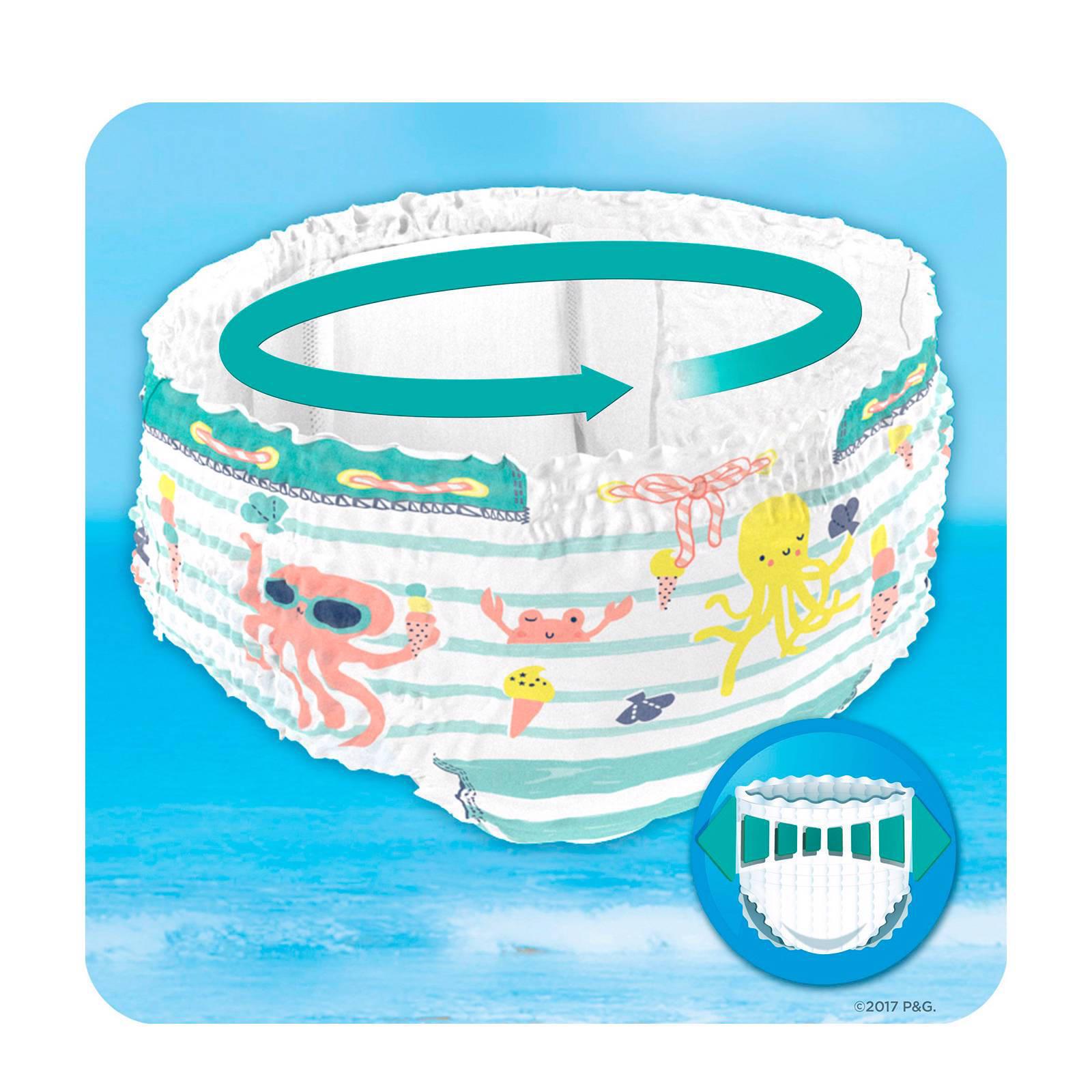 Bekend Pampers Splashers maat 4-5 (9-15 kg) 11 wegwerpbare zwemluiers AV03