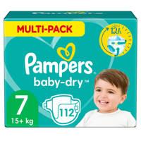 Pampers Baby-Dry maandbox maat 7 (15+ kg) 112 luiers