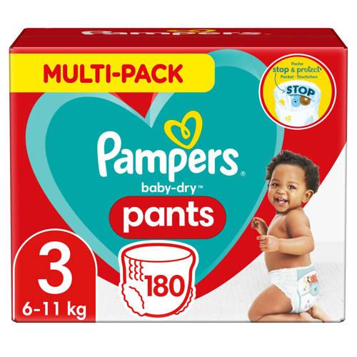 -Pampers Baby-Dry Pants maandbox maat 3 (6-11 kg) 180 Luierbroekjes-aanbieding