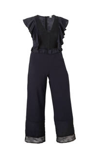 Lost Ink Plus straight fit jumpsuit met kant (dames)