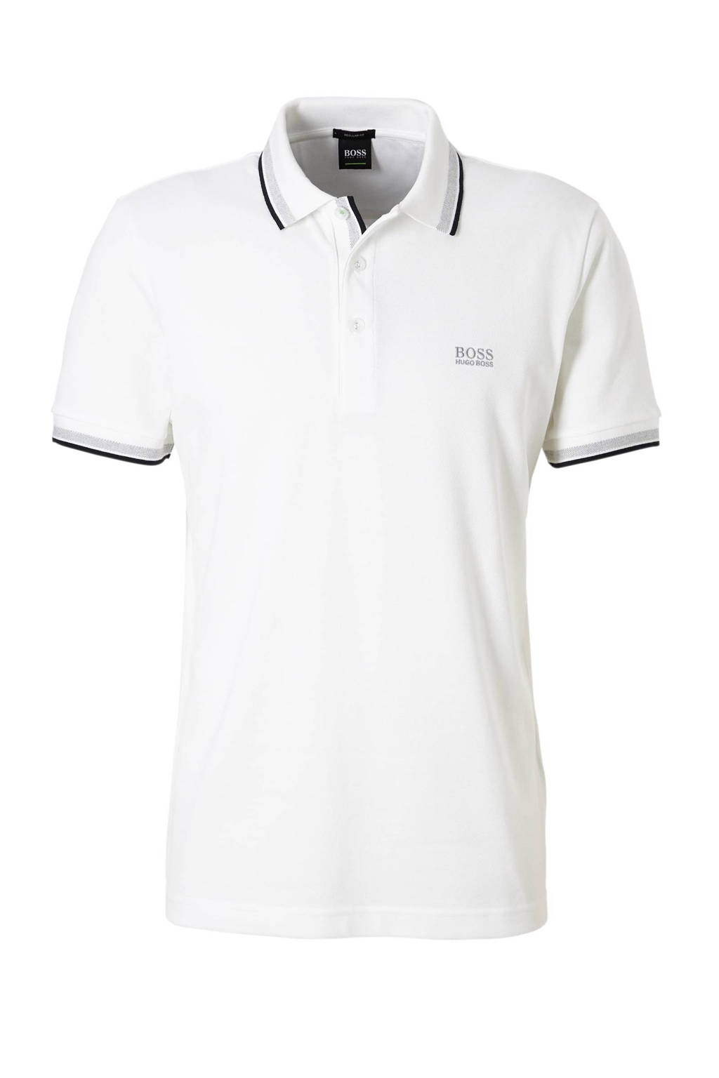 Boss Athleisure Paddy regular fit polo, Wit