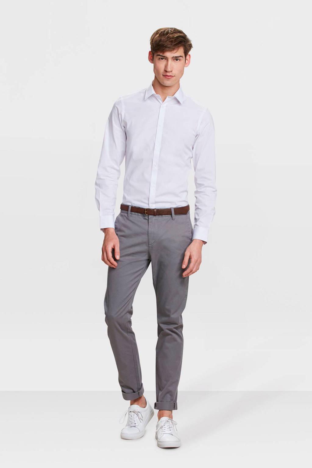 WE Fashion Blue Ridge skinny chino grijs, Grijs