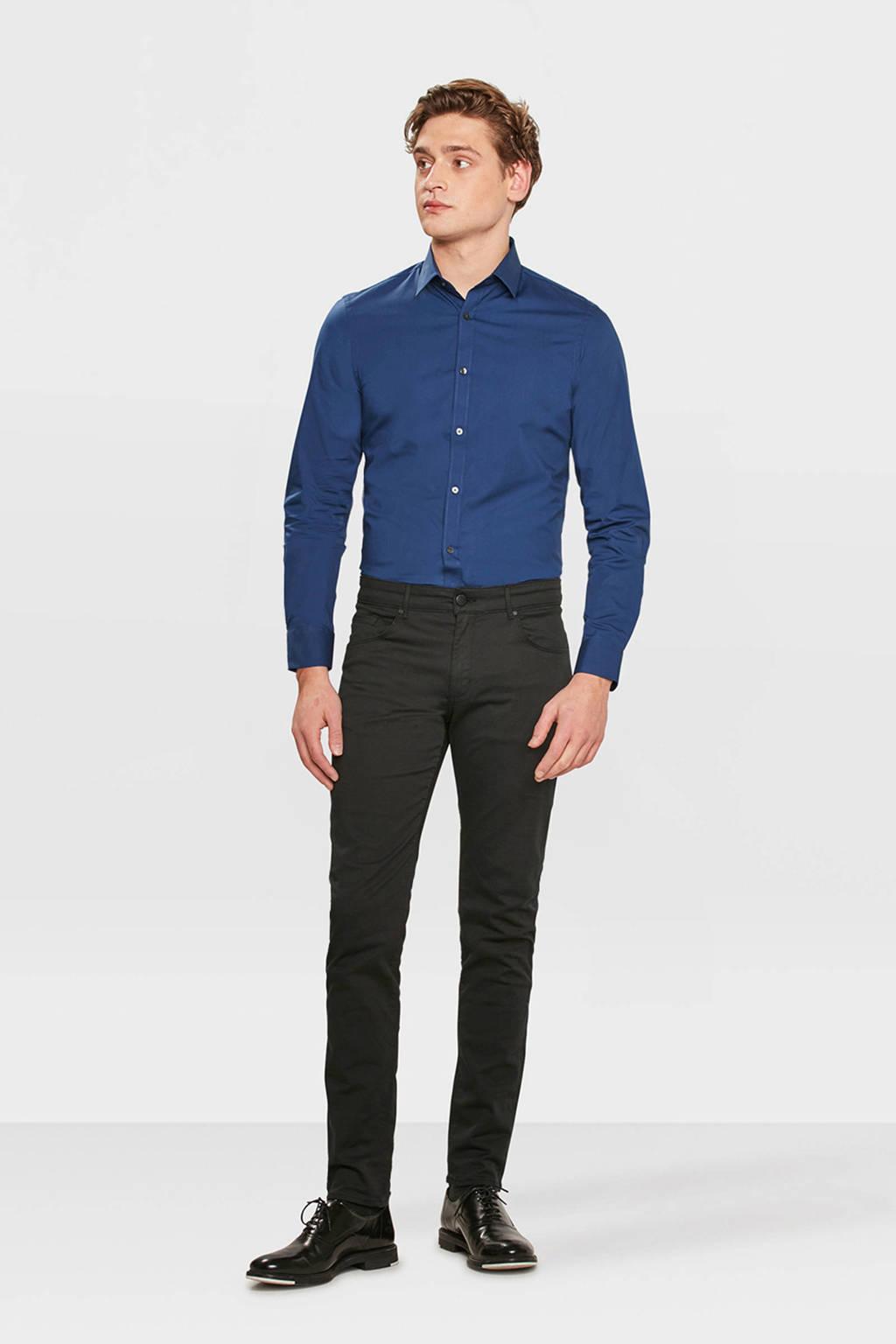 WE Fashion slim fit overhemd grijsblauw, Grijsblauw
