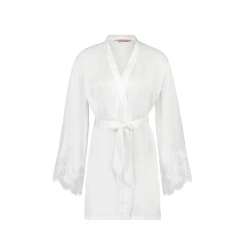 Hunkem??ller kimono met kant wit