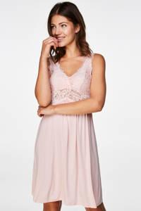 Hunkemöller slipdress Modal Lace roze, Roze