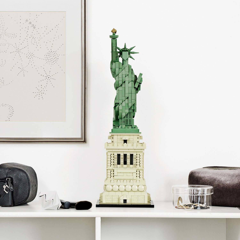 Vrijheidsbeeld Van Lego.Vrijheidsbeeld 21042