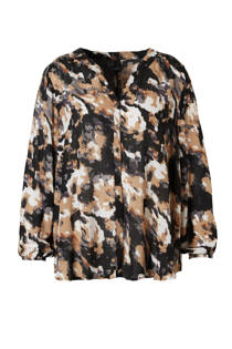 Adia blouse met all over print (dames)