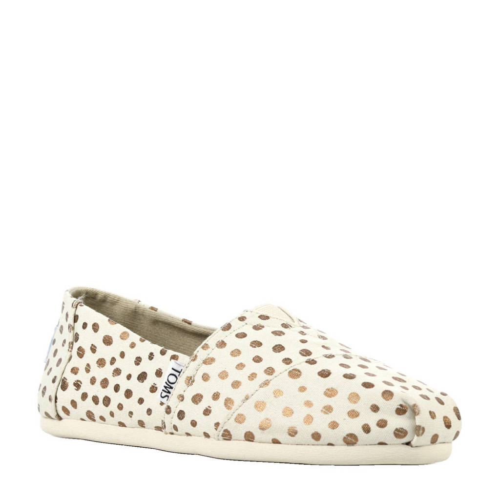 Toms Alpargata Dots II loafer, beige/brons