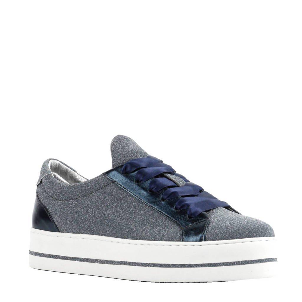 Maripe leren sneakers met glitters, Blauw