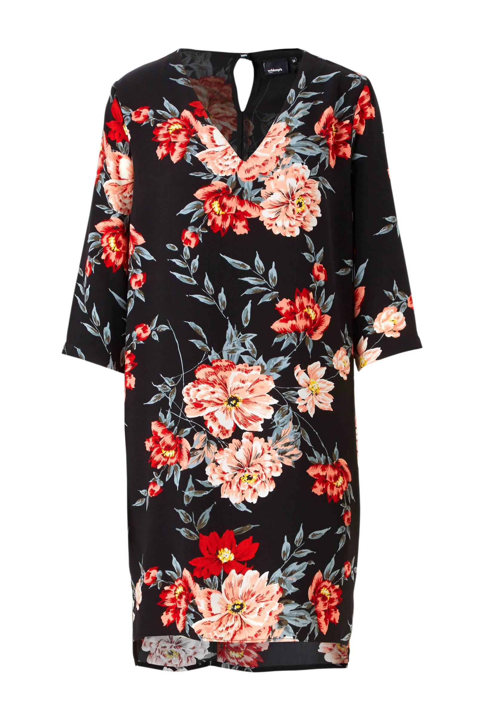 whkmp's own gevoerde jurk met bloemprint