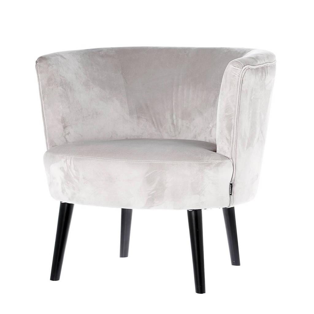 Riverdale fauteuil Chelsea velours, Lichtgrijs