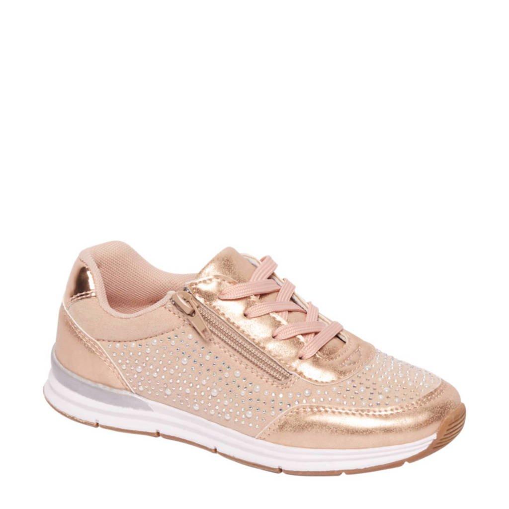 vanHaren Graceland  sneakers met sierstenen, Lichtroze