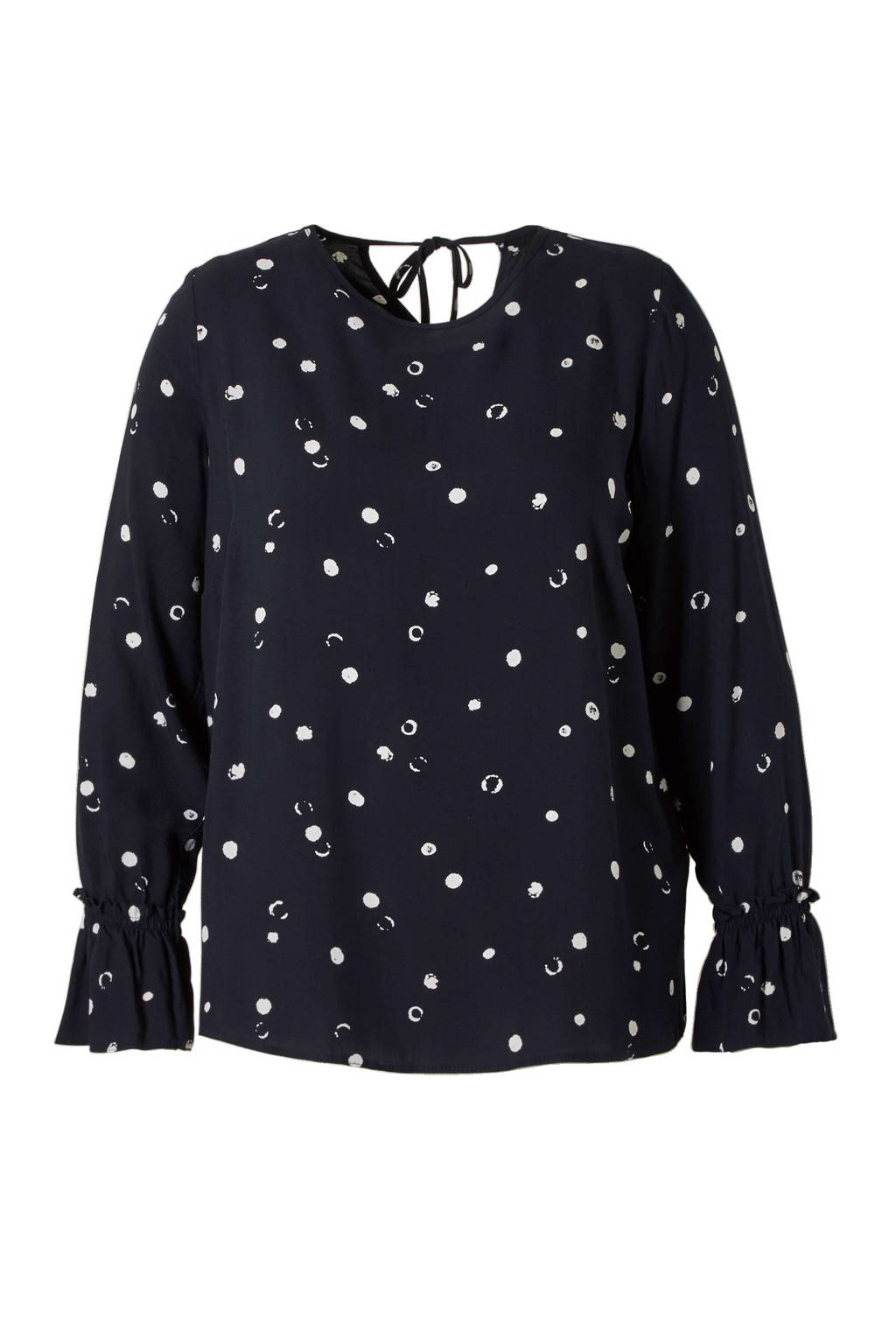 C&A Clockhouse top met stippen, Donkerblauw