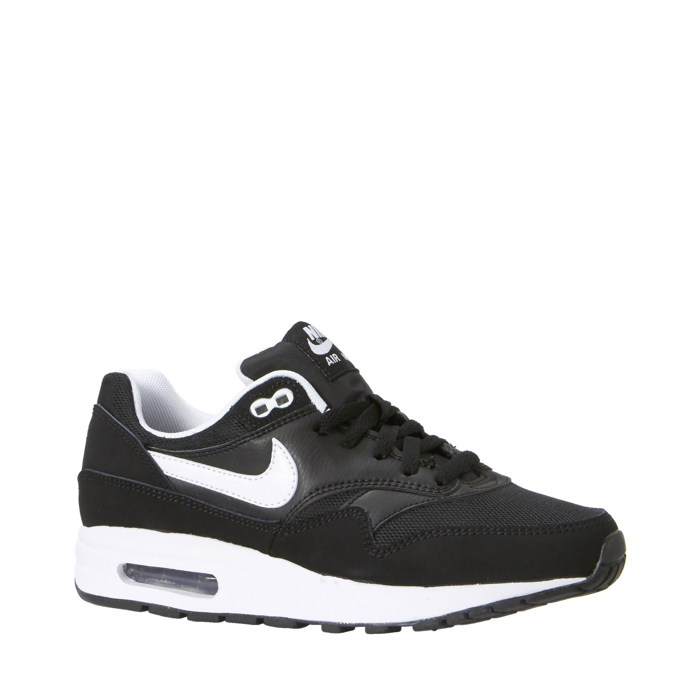 nike air max 1 gs zwart wit