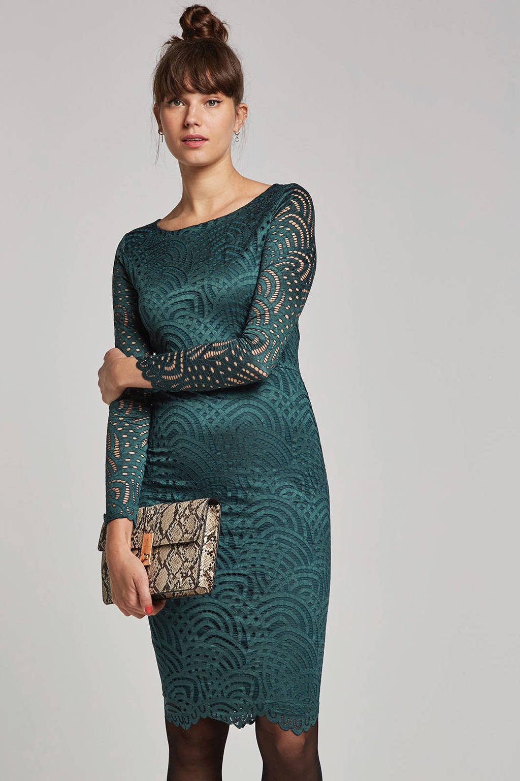 1221823900d15e whkmp s own gevoerde kanten jurk