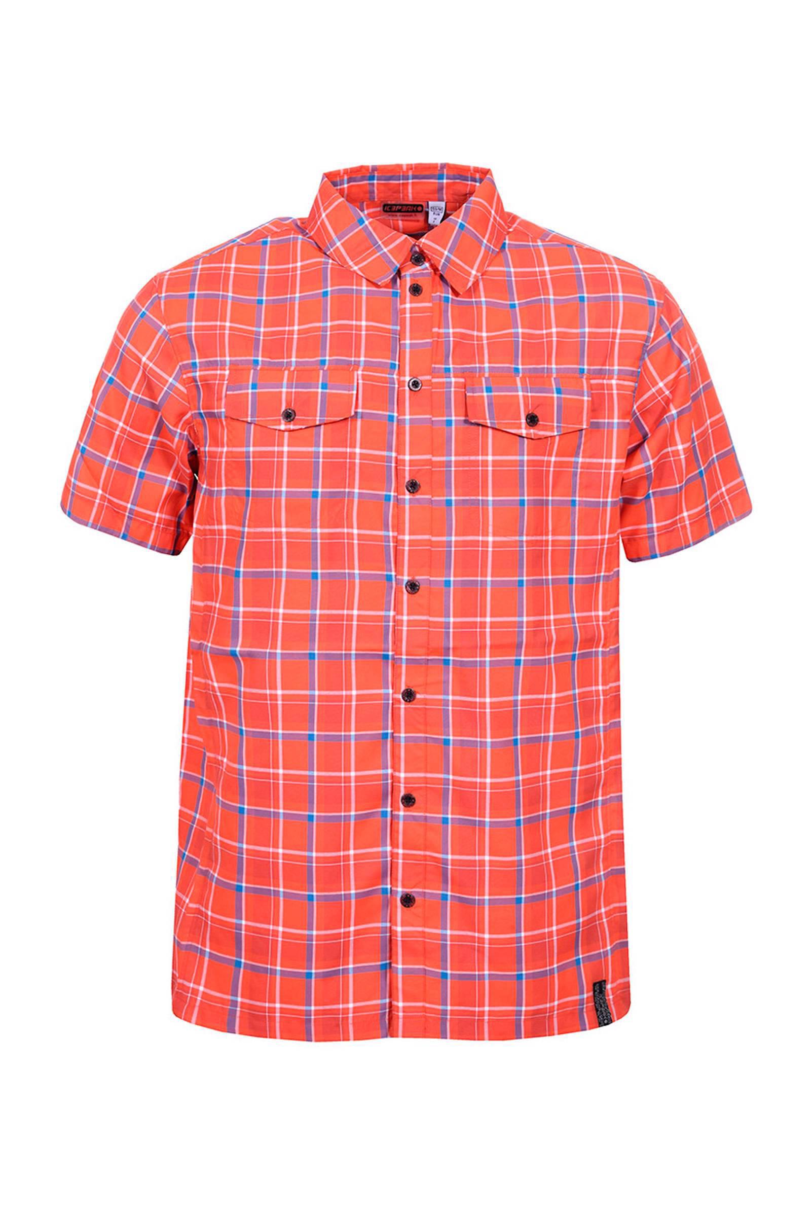 overhemd outdoor oranje Saul geruit Icepeak SZq7U