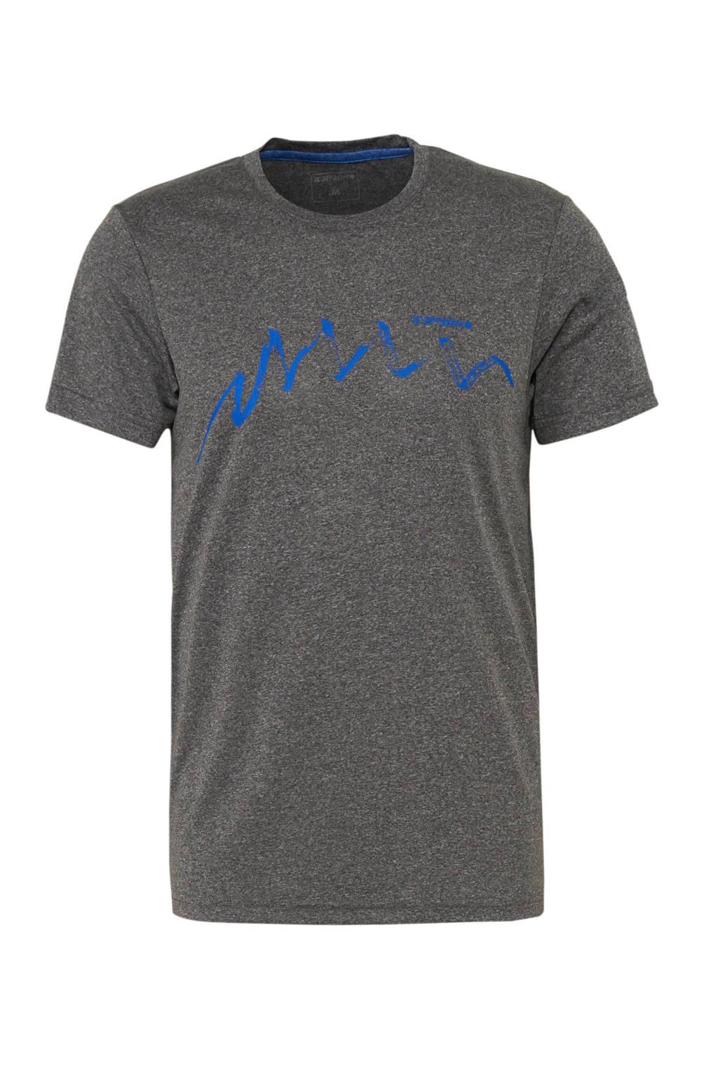 Icepeak outdoor T-shirt Saif grijs, Grijs melange
