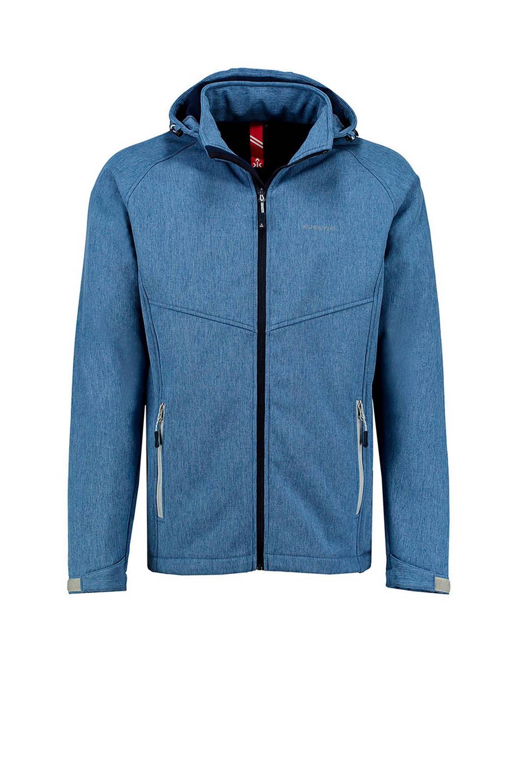 Kjelvik Peader softshell jack middenblauw