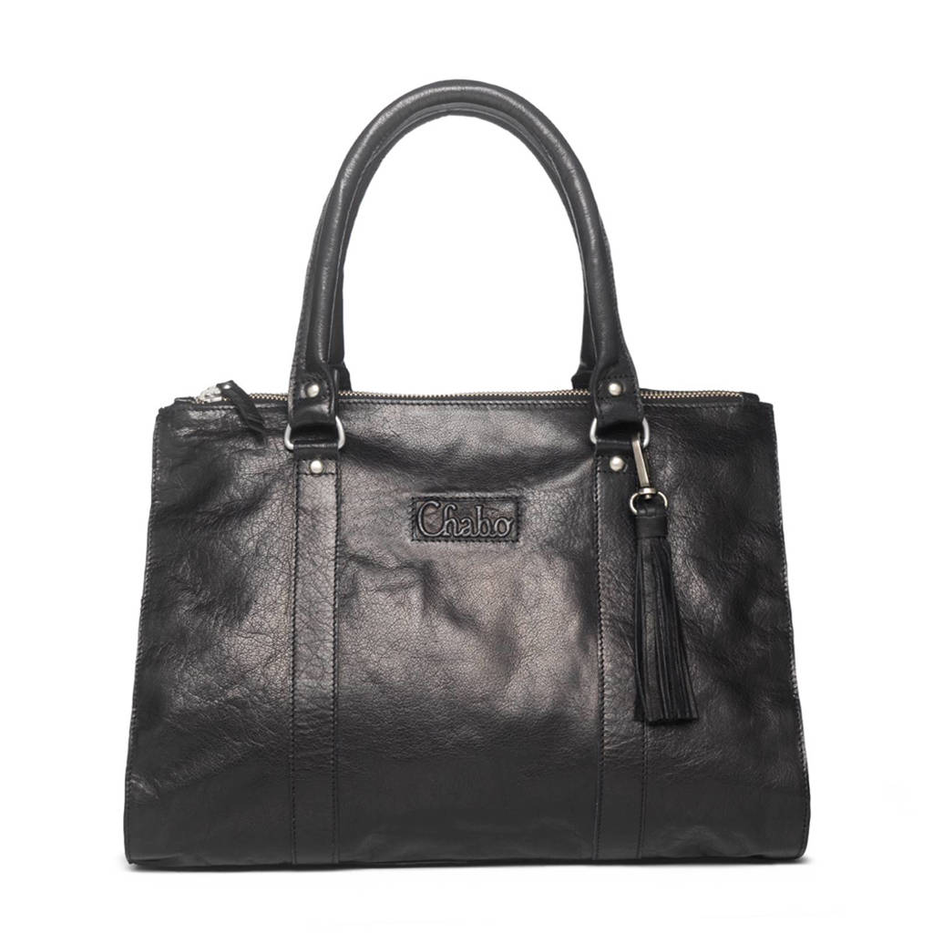 Chabo Bags Chabo Buff Bags Kit's Classic  Kit's Classic leren handtas, Black