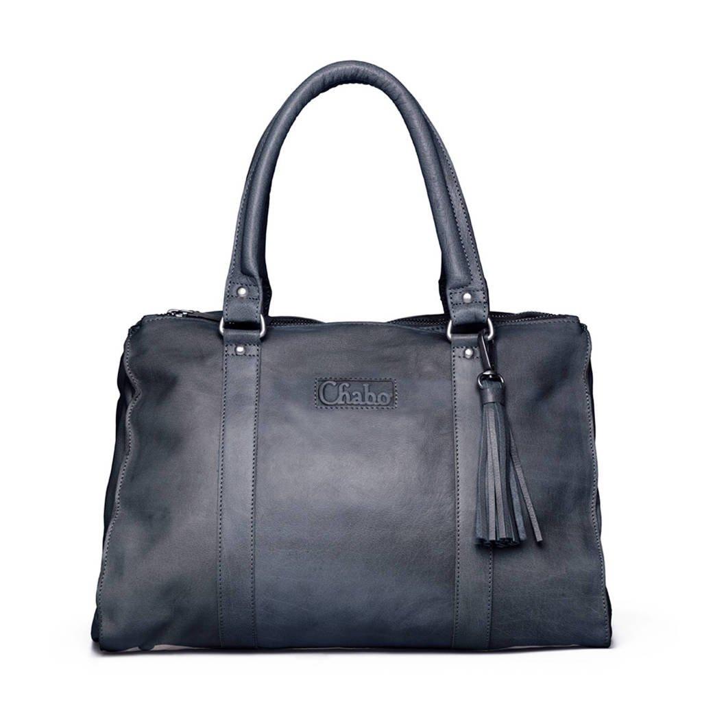Chabo Bags Chabo Buff Bags Kit's Classic  Kit's Classic leren handtas, Bleu/Grey