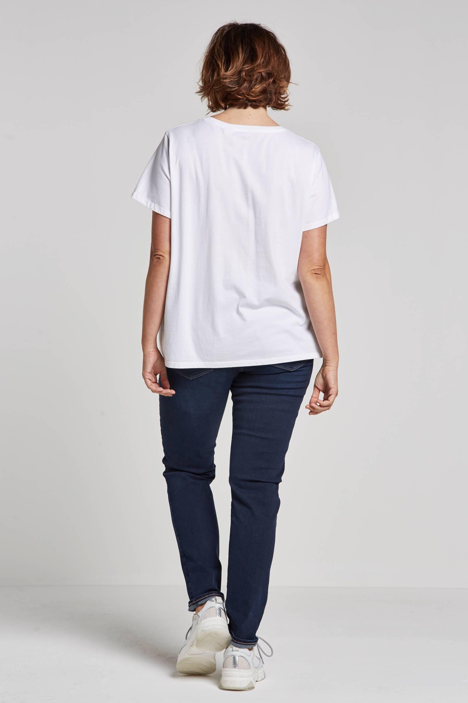 Levi's Plus T-shirt Met Logo Wit 4G5SRoNJ