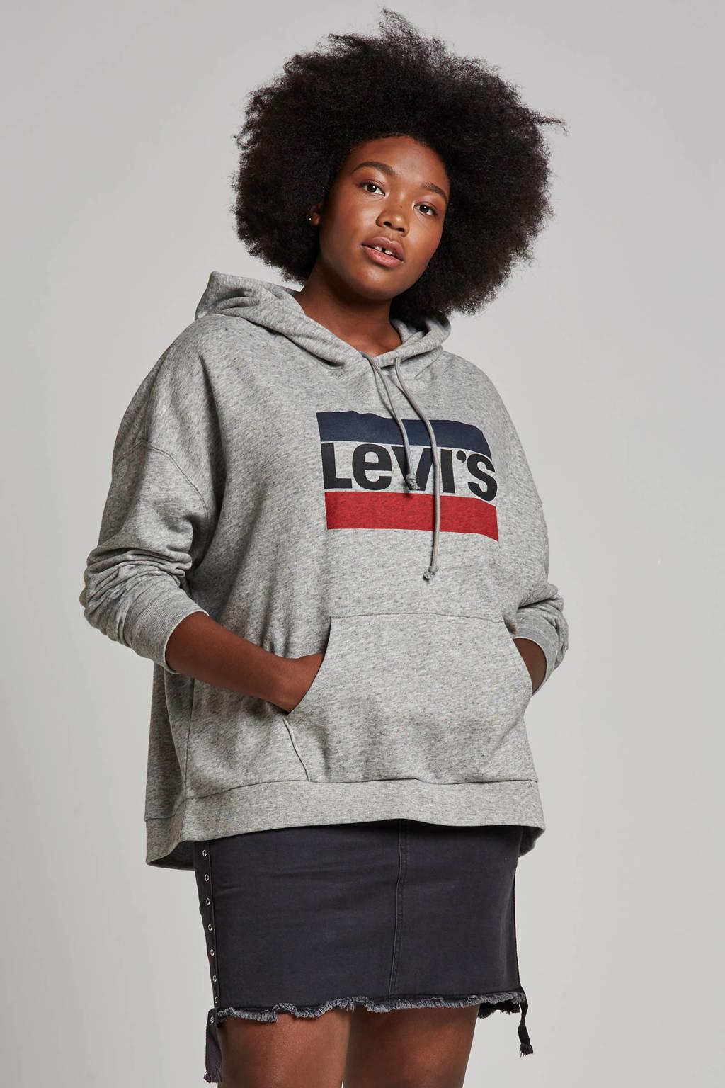 Levi's Plus hoodie met logo, Grijs