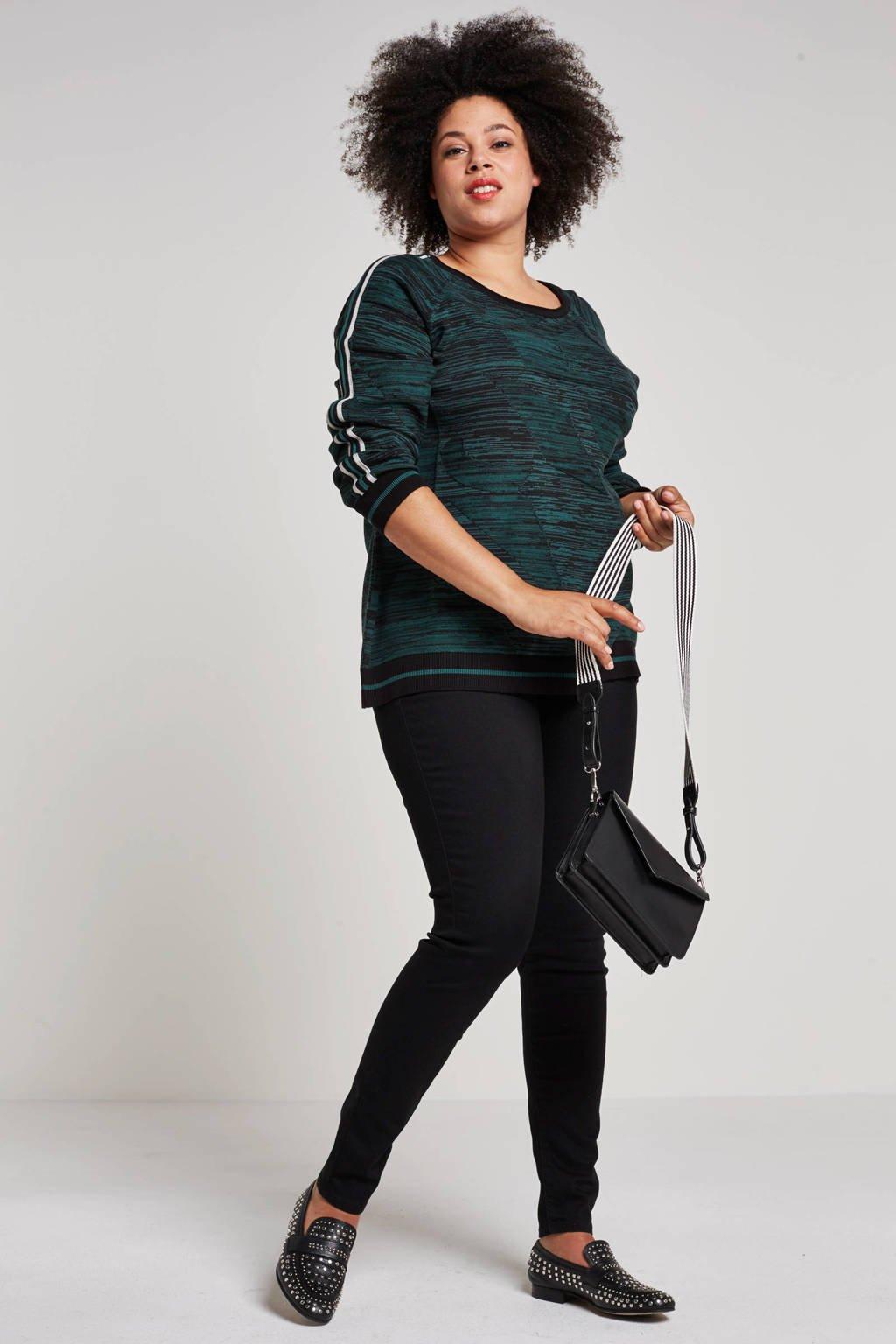 Levi's Plus skinny fit jeans, Zwart